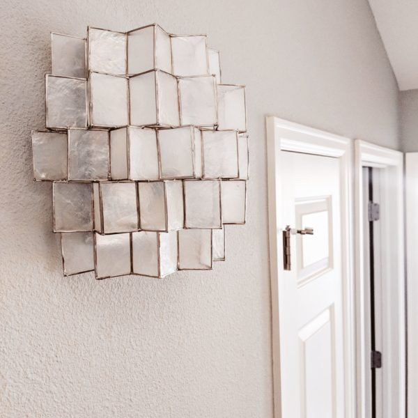 CAPIZ ZIGZAG SCONCES